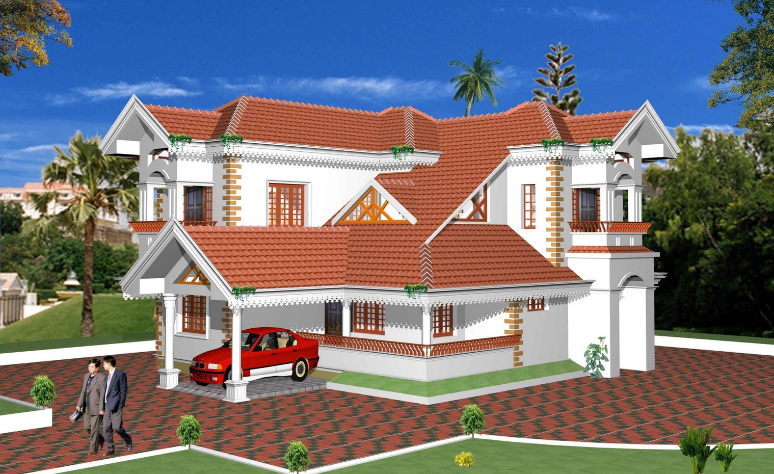 Front elevation architectural design apnaghar for Front view of duplex house in india