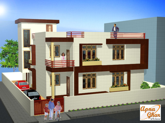 Front Elevation Of Multistoried Building : Front elevation « apnaghar