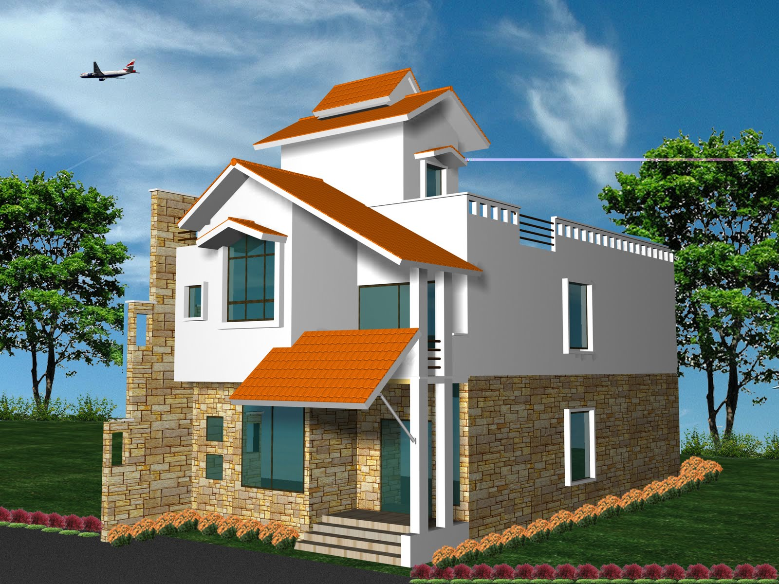 Tips home design home design front elevation for Latest house elevation