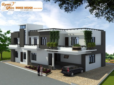 Triplex House Design, Architectural House Plans