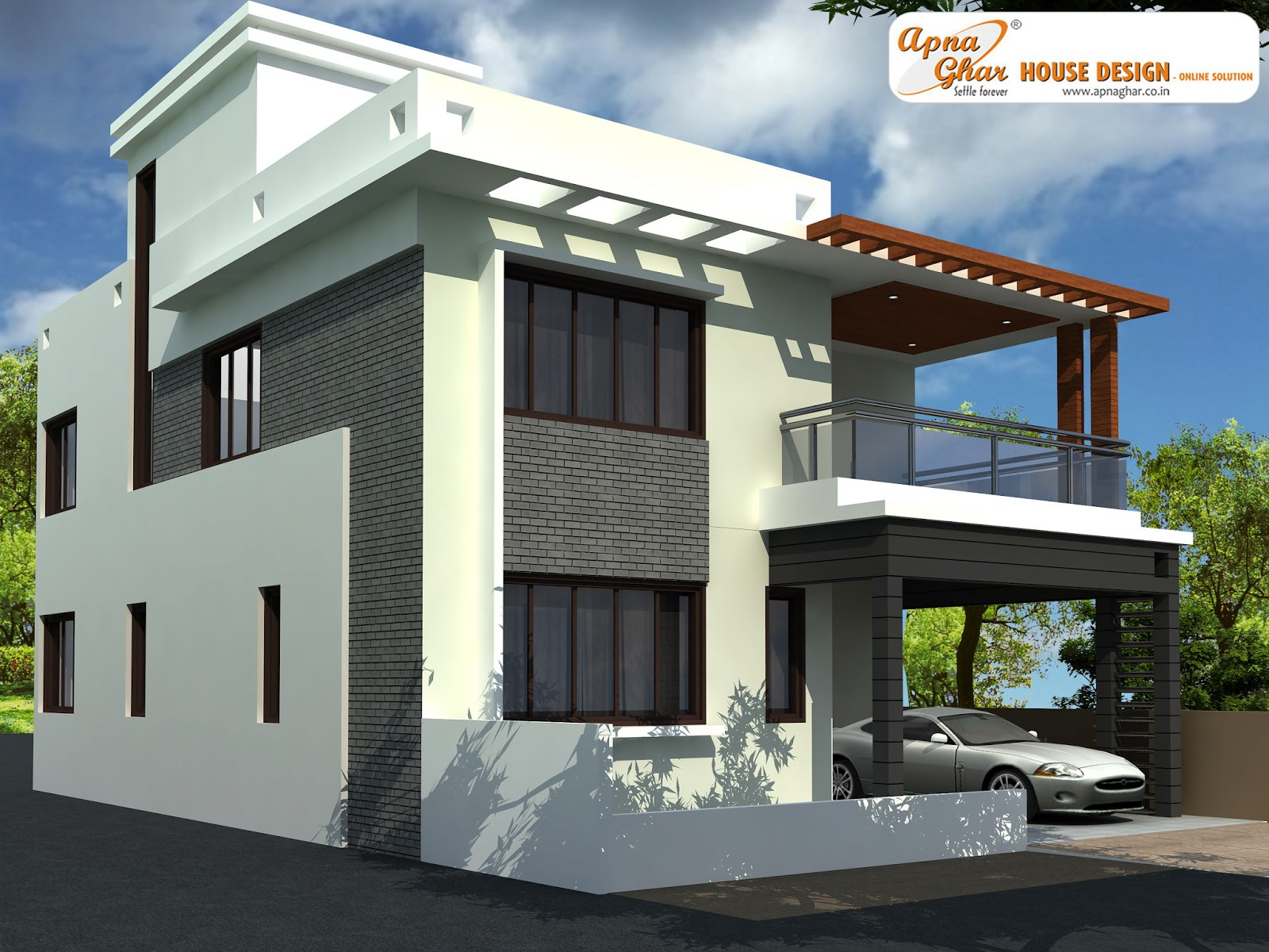Front Elevation Designs For Duplex Houses : Indian duplex house front elevation joy studio design