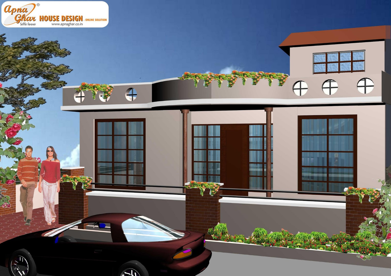 Ground Floor Front Elevation : Simplex house design « apnaghar page