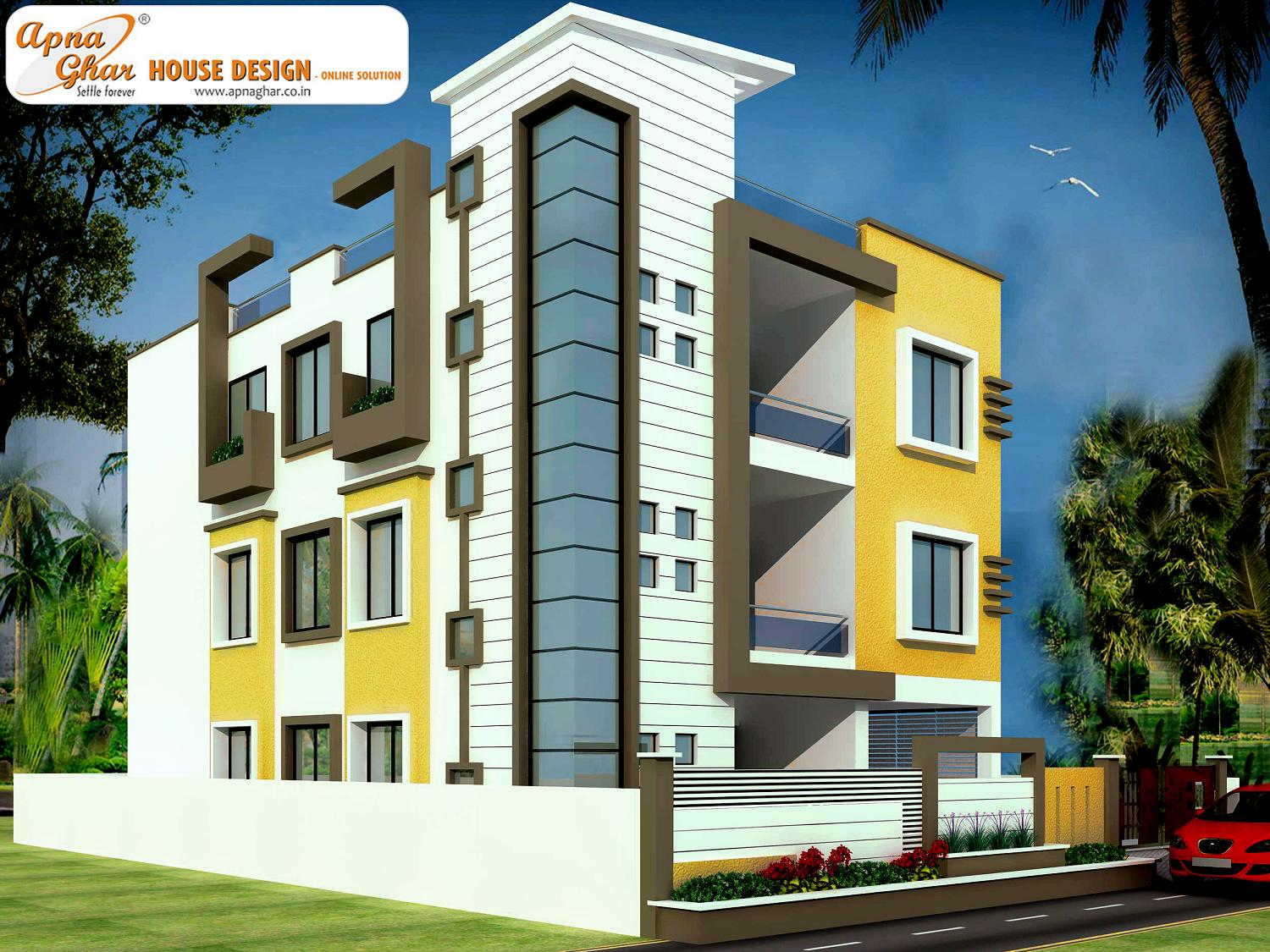2d Front Elevation For Residential : Front elevation for residential building joy studio