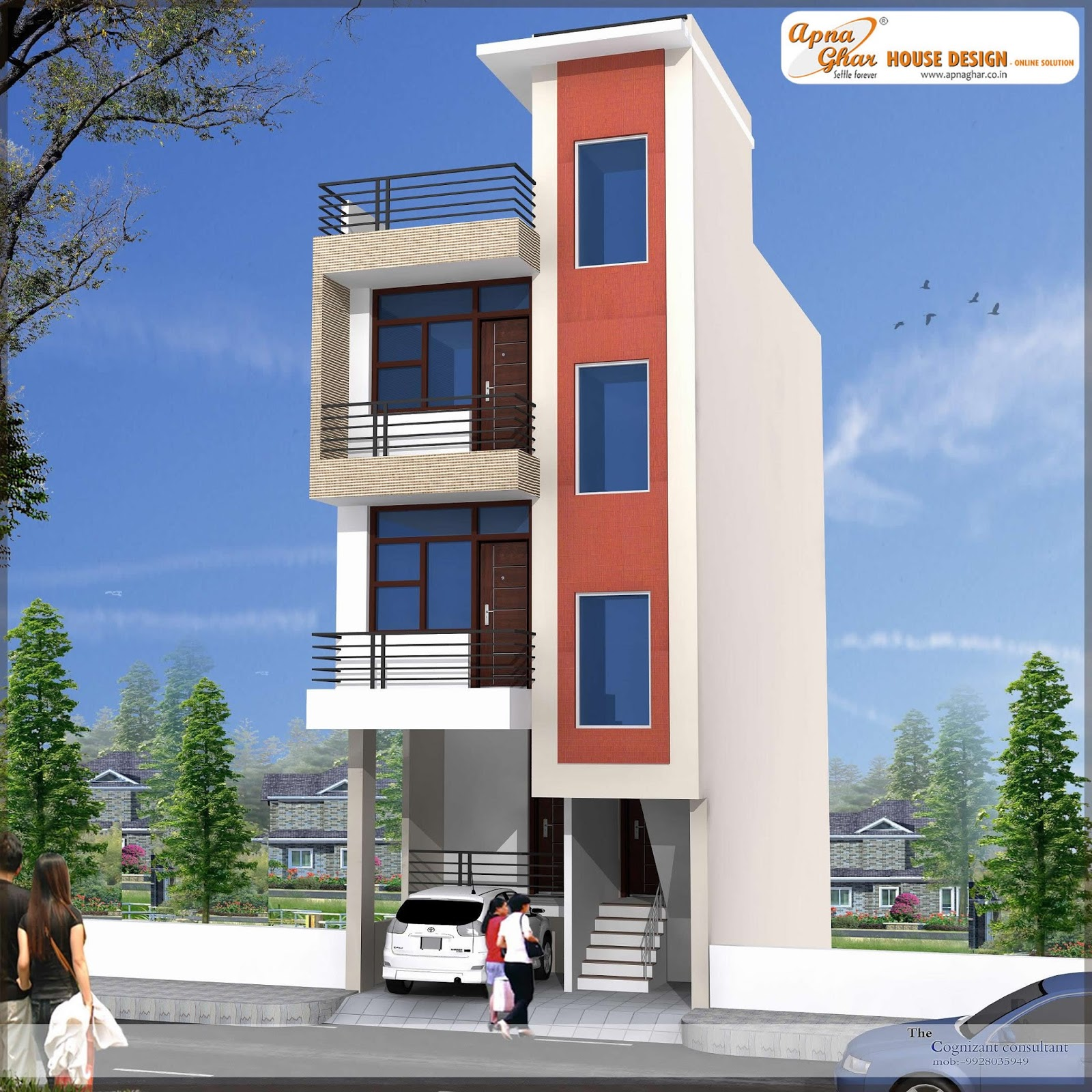 Floor Building Front Elevation Designs : Independent floor design « apnaghar page