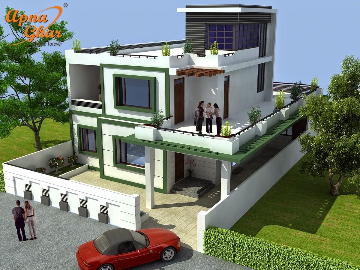 Duplex house with beautiful stire plans joy studio for Beautiful duplex house designs
